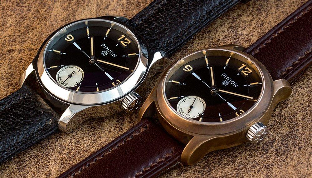 Pinion Pure Steel and Bronze L.E. Watches