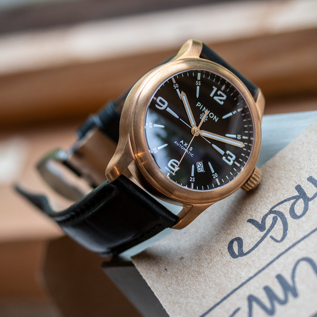 Pinion Axis II Bronze Watch
